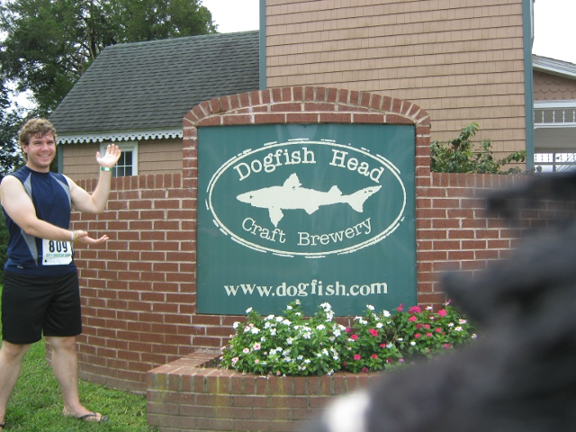 Matty at the Dogfish Head Brewery