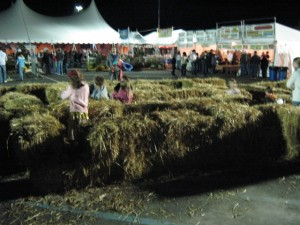 The Tiny Hay Maze - the only Kid-friendly thing open at the time.