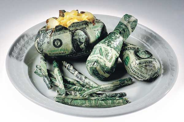 How much money do you spend on food?