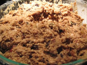 "The Christmas pudding ""batter""?"